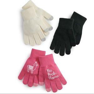 So Cold Weather 3PK Tech Glove NO PROB-LLAMA.